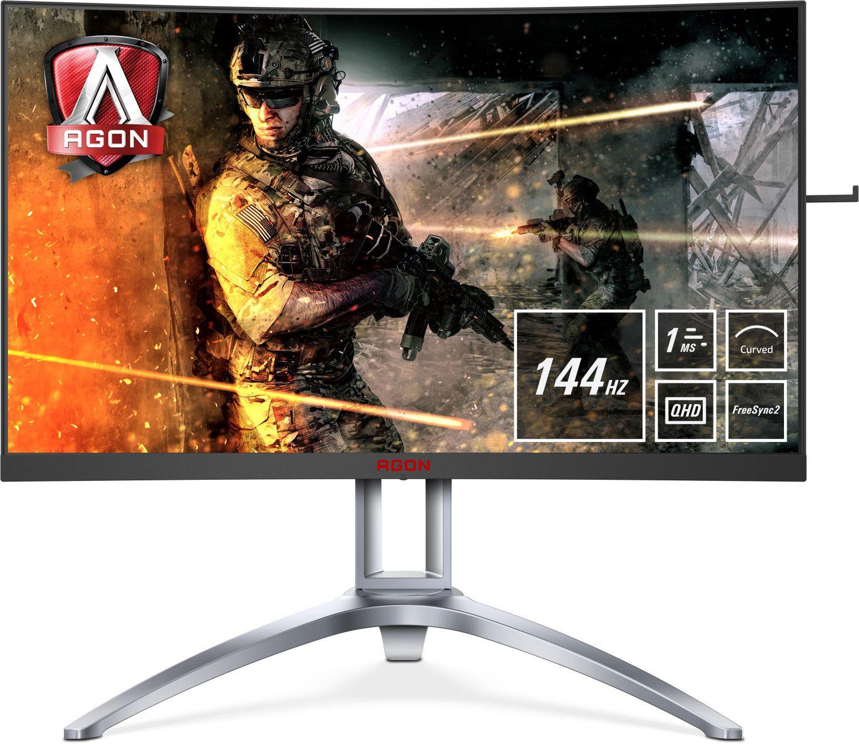 AOC AGON AG273QCX 68 cm (27 Zoll) Curved Monitor (HDMI, DisplayPort, USB Hub, Free-Sync2, 1ms Reaktionszeit, HDR, 144Hz) [Saturn & Amazon]