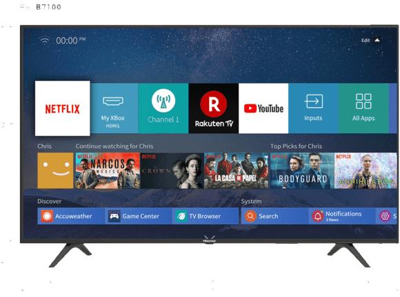 Hisense H 65 B 7100, 164 CM (65 IN), UHD 4K, SMART TV, UHD SMART TV, 1500 PCI [Saturn Abholung & Amazon]