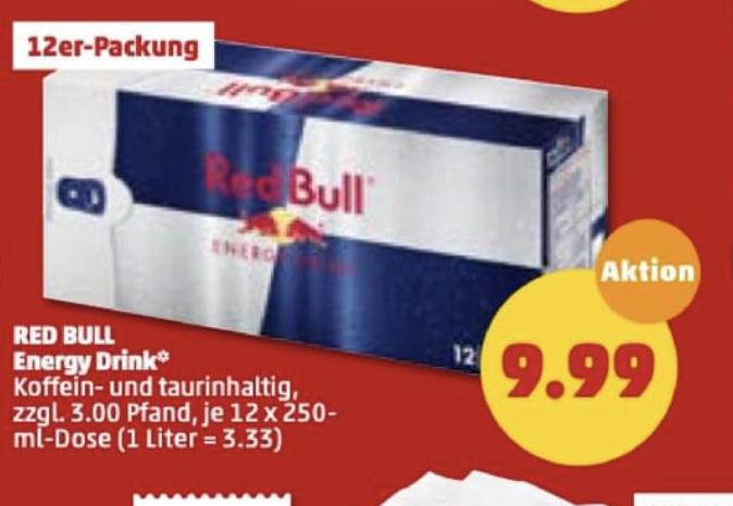 (Penny) Red Bull 24 Dosen 250ml (71 Cent / Dose)