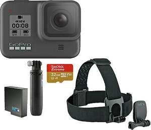 (Amazon+Saturn) Gopro Hero 8 Black Holiday Bundle 332,77€ bzw. 294,11€ ohne Bundle
