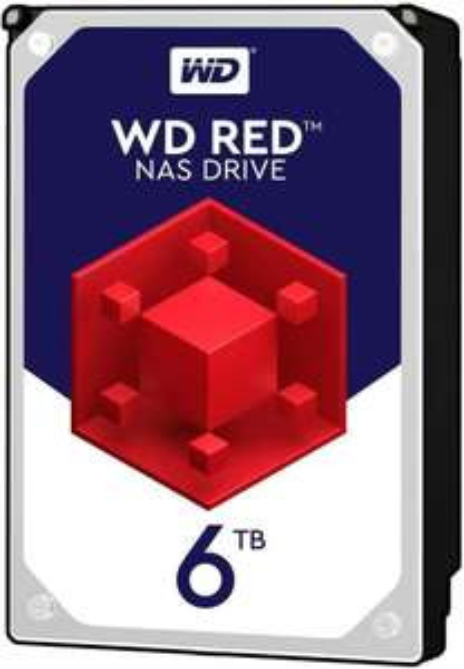 Western Digital WD Red interne Festplatte 6 TB (3,5 Zoll, NAS Festplatte, 5400U/min, SATA 6 Gbit/, CMR) Retail