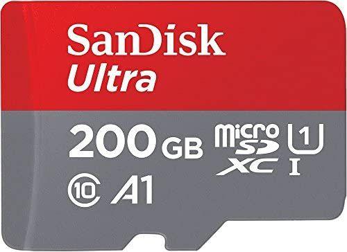 [Prime] SanDisk Ultra 200GB microSDXC Speicherkarte + Adapter bis zu 100 MB/Sek., Class 10, U1, A1