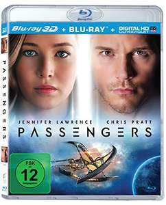 Passengers 3D (3D Blu-ray + Blu-ray + UV Copy) für 8,39€ (Amazon Prime)