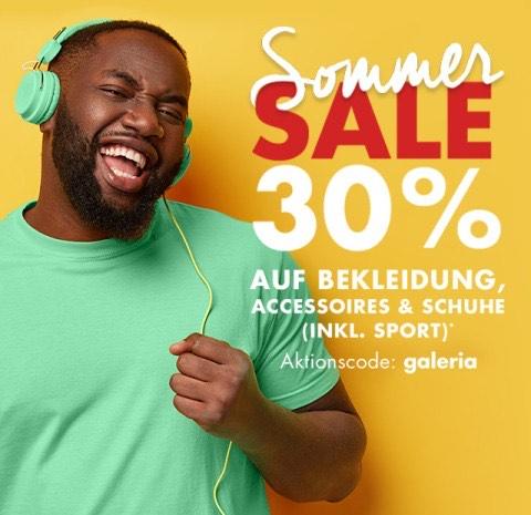 SOMMER SALE 30% auf Bekleidung, Schuhe & Accessoires bei GALERIA Karstadt Kaufhof
