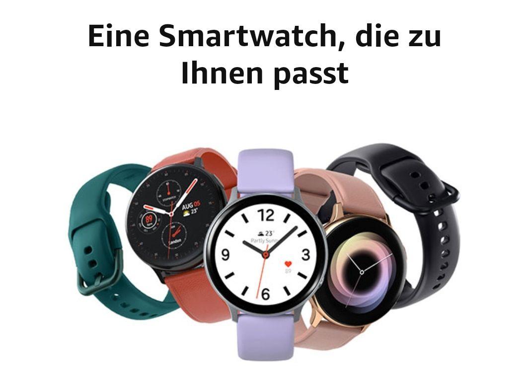 Samsung Galaxy Watch Active 2 44mm Silikon (Gold, Silber Schwarz)