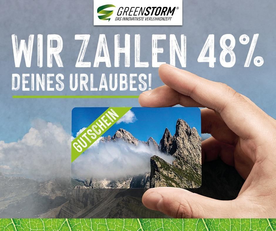 Endlich wieder Urlaub? Rabattaktion bei Greenstorm 48%
