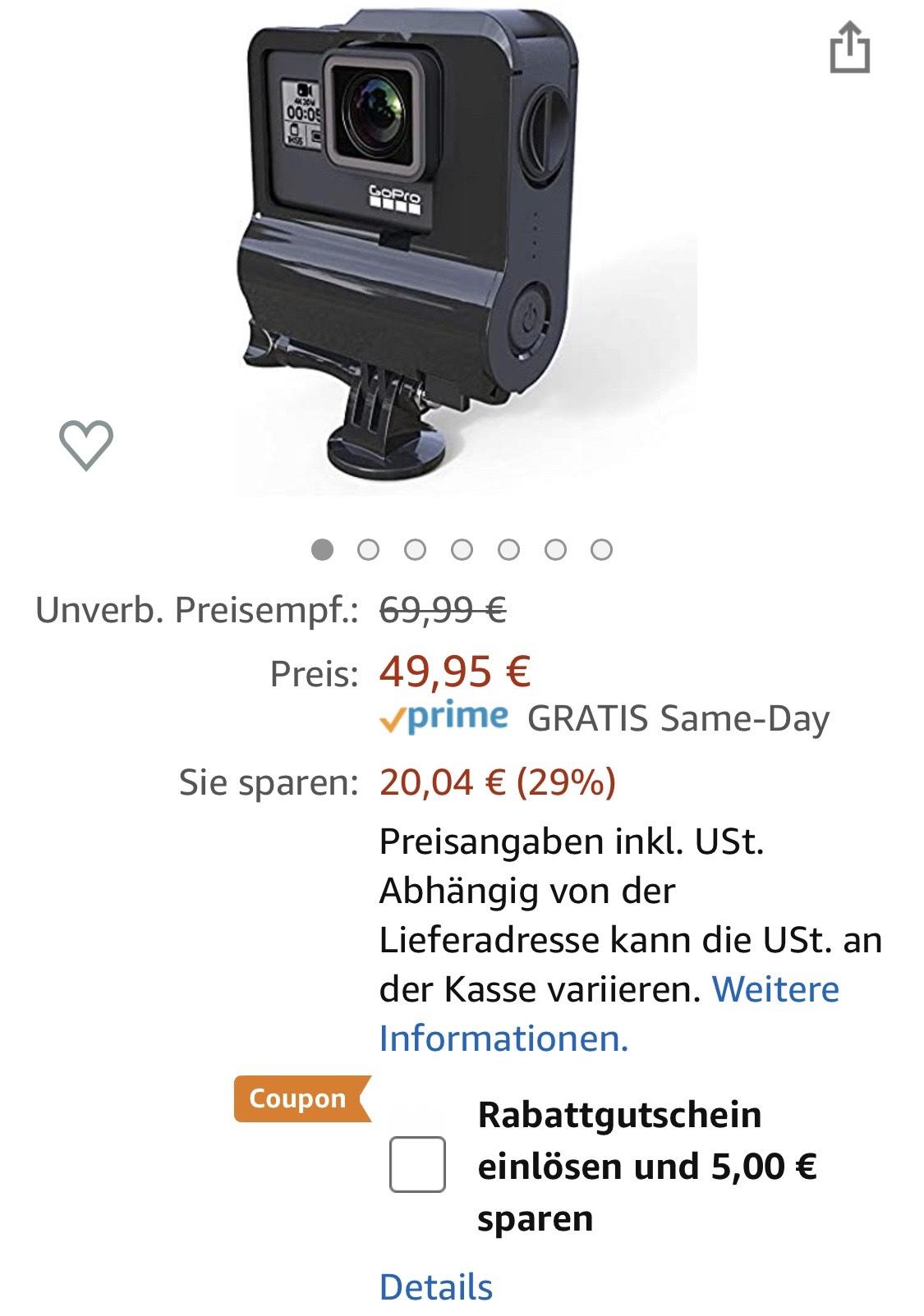 Re-fuel Akkuframe für GoPro (ausser Sessions und Hero8)