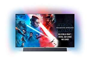 Philips Ambilight 55OLED934/12 (55 Zoll) OLED+ 4K Ultra HD TV (HDR 10+, Dolby Vision, Dolby Atmos, Sound von Bowers & Wilkins, Android TV)