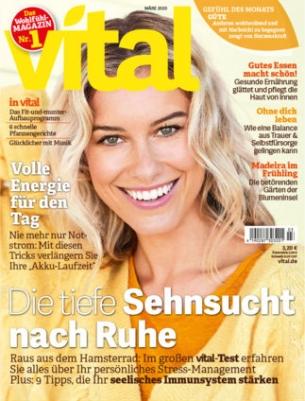 Vital Abo (3 Ausgaben) für 7,20 € mit 10 € Amazon-Gutschein