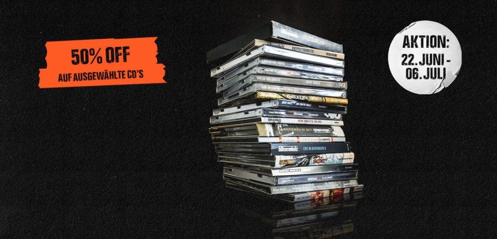 [Böhse Onkelz Onlineshop] 50% Rabatt auf ausgewählte CD's