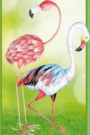[Thomas Philipps] Ein Hingucker in jedem Garten: Metall-Deko-Flamingo je 13,95€ [22.6-27.6.20]