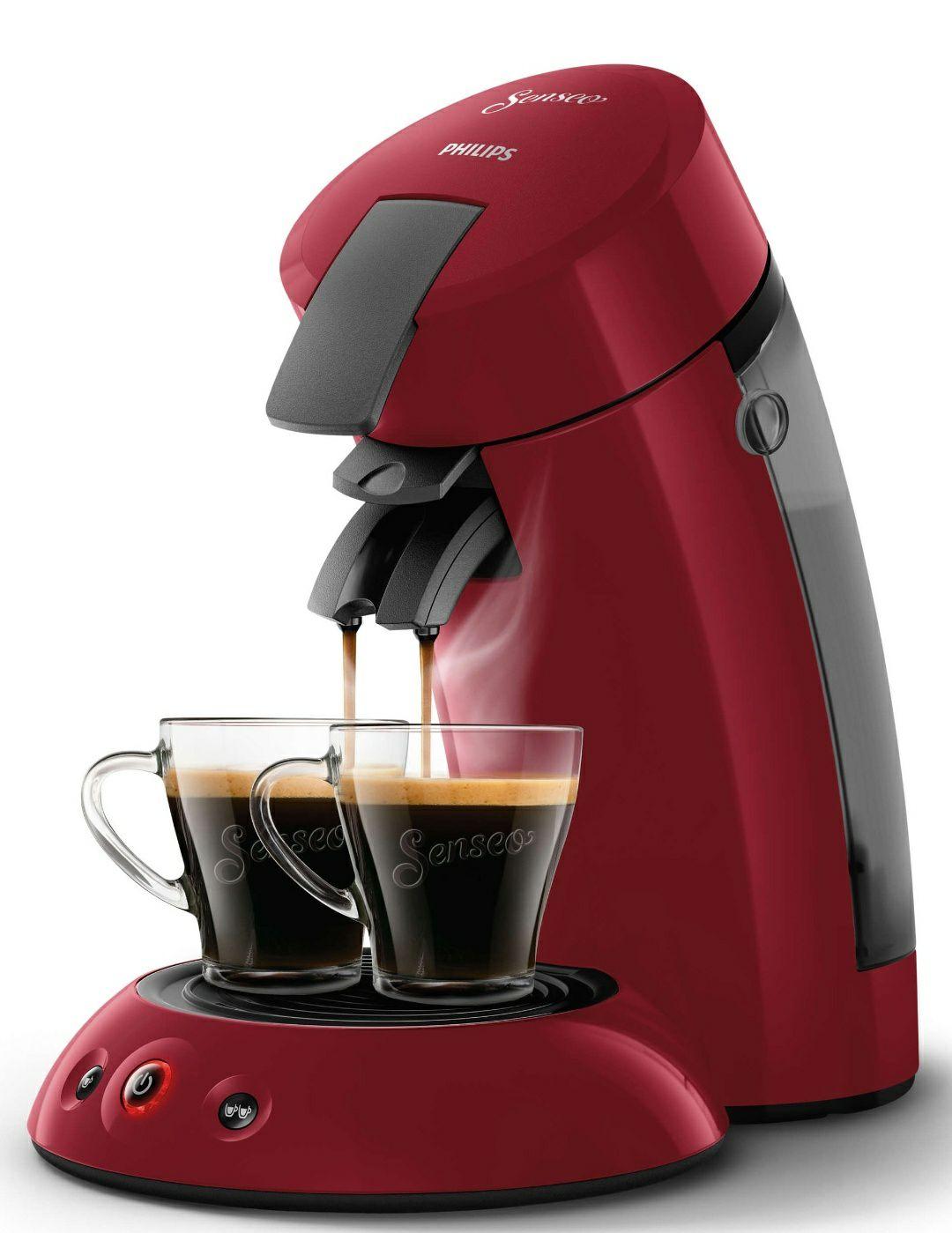 Philips Senseo Kaffeepadmaschine Original HD6553 HD6553/80 (rot)