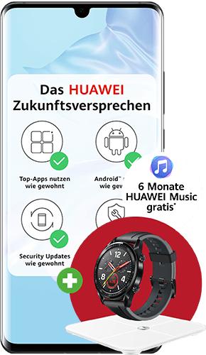 [deinhandy] HUAWEI P30 Pro oder HUAWEI P40 mit o2-Blue All-in M 18GB, incl Watch und Waage