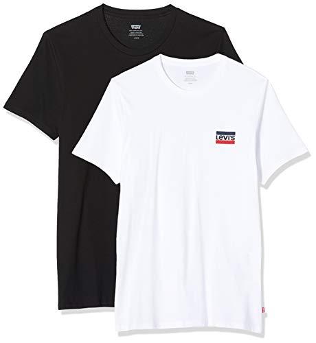 [Prime] (Herren) Levi's 2 Pack CrewNeck Graphic T-Shirt schwarz & weiß, noch vereinzelte Größen
