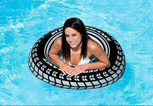 [Amazon Prime] Intex Giant Tire Tube - Aufblasbarer Schwimmring - Ø 91 cm - Reifendesign