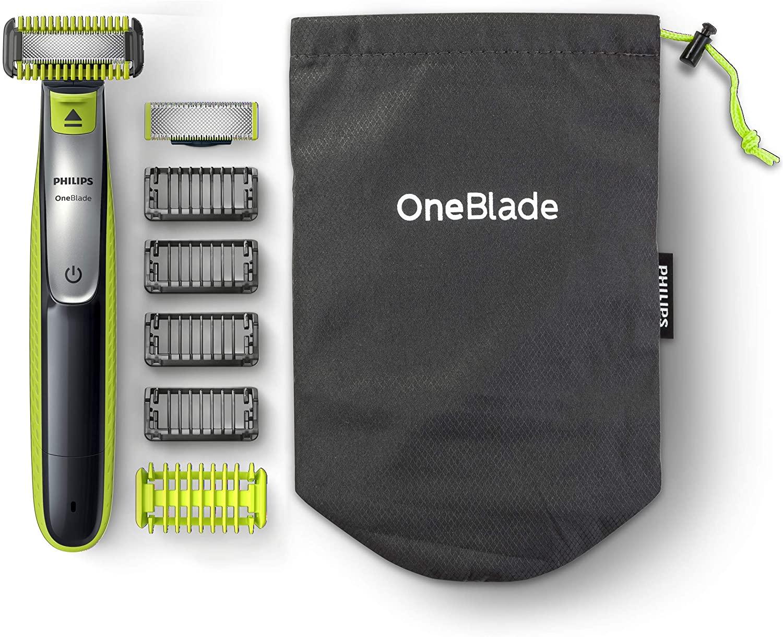 Philips OneBlade Face + Body QP2630/30, mit 2 Klingen (1x Gesicht, 1x Körper), 4 Trimmaufsätzen und 2 Körperaufsätzen [Amazon]