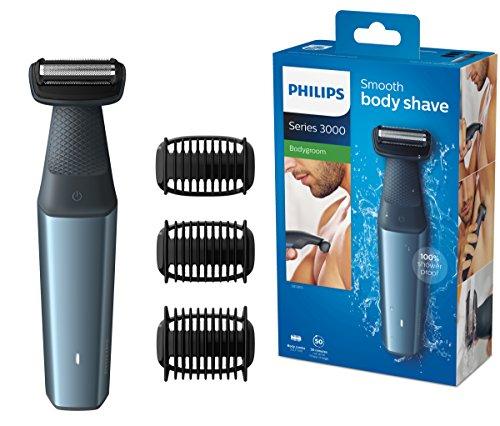 Philips BG3015/15 Bodygroom Series 3000 hautfreundlicher Körperrasierer mit 3 Trimmaufsätzen [Amazon]