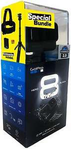 GoPro HERO8 Black Holiday Bundle inkl. SD Karte + Akku + Shorty + Kopfgurt