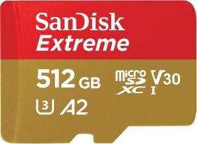 [cyberport] SanDisk Extreme R160/W90 microSDXC 512GB Kit, UHS-I U3, A2, Class 10 (SDSQXA1-512G-GN6MA)