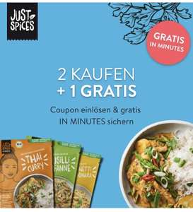 Just Spices in minutes 2 Kaufen + 1 Gratis, Rewe/ Globus / Hit