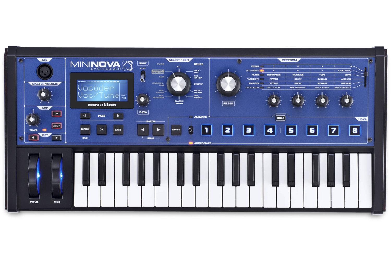 Novation MiniNova - Performance-Synthesizer mit 300 Presets, Vocoder, VocalTune, 37 Tasten Controller-Keyboard mit MIDI I/O
