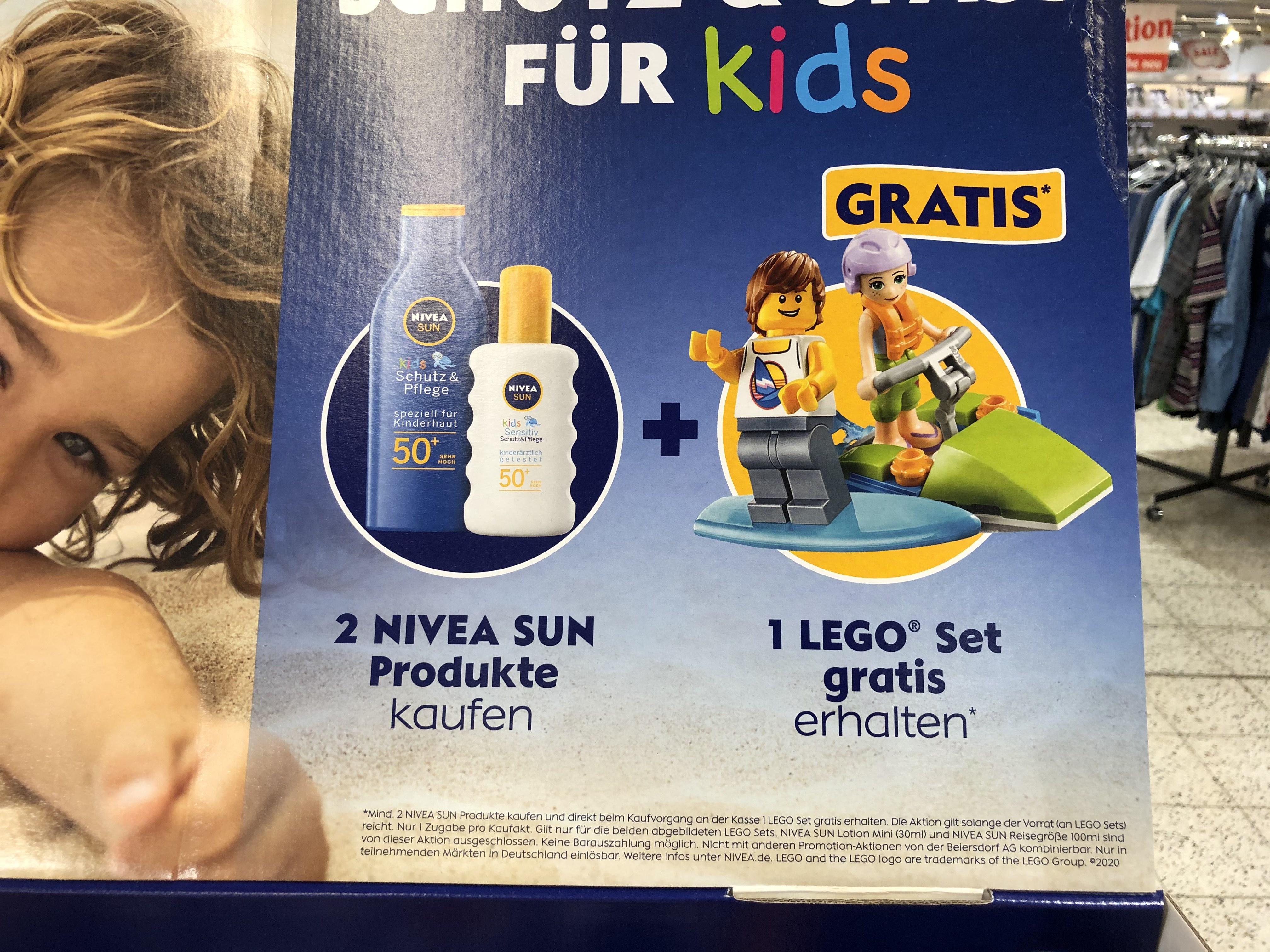 [Offline Globus]Nivea Aktion - Zwei mal Sonnenmilch kaufen, 1 Lego Set Gratis