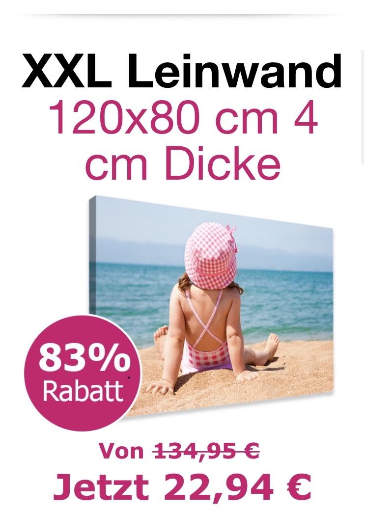 XXL Fotoleinwand 120 x 80 cm, 4 cm dick