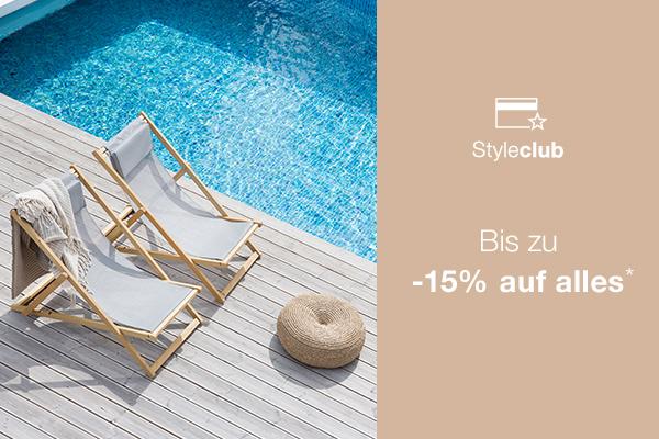 15 % Rabatt ab 350 € MBW auf Designermöbel und hochwertige Accessoires im [Ambientedirect Styleclub]
