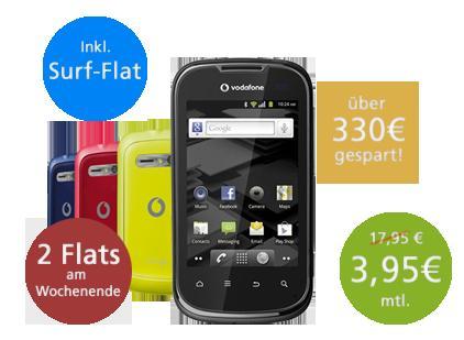 Vodafpne SuperFlat Internet WE Spezial mit Vodafone 860 Smart 2