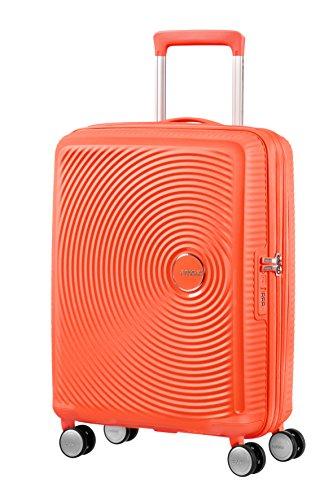 [Versch. Farben] American Tourister Soundbox - Spinner S Erweiterbar Handgepäck, 55 cm, 41 L, Orange (Spicy Peach)