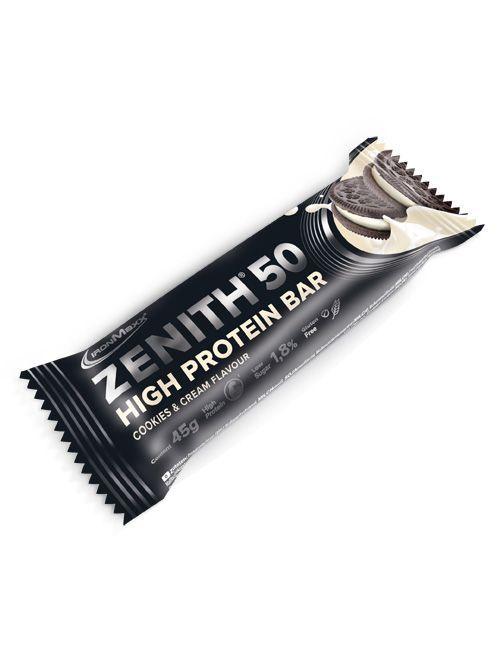 61 x ZENITH 50 PROTEINRIEGEL (45GRAMM)-COOKIES & CREAM/Vanilla Joghurt Crisp(MHD 30.07.2020)