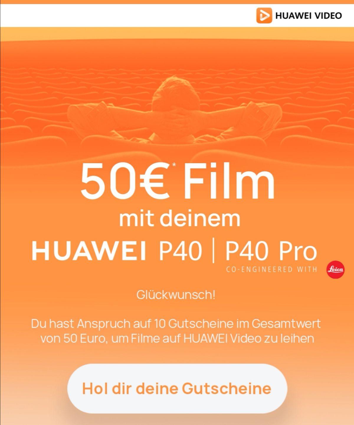 10 Rakuten TV Leihfilme gratis für P40 (Pro) Besitzer über die Huawei Video App   5 Filme für P30 Pro