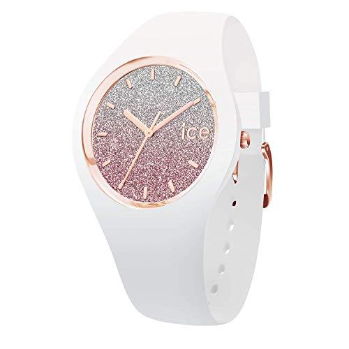 Ice-Watch -Ice Lo - Weiß Damenuhr mit Silikonarmband ( Größe S (34mm), Wasserdichtigkeit : 10 ATM, Glas: Mineral )
