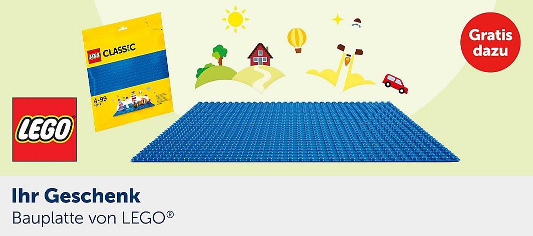 LEGO Bauplatte 10714 (blau) ab 29 Euro Gratis dazu