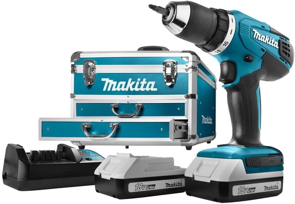 Makita DF457DWEX6 - Akkuschrauber + 2x1,3Ah Akkus - + 102 tlg Zub. + Koffer [eBay]