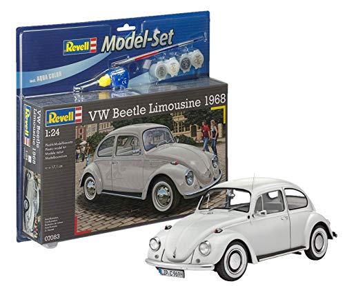 Revell Modellbausatz Auto VW Käfer Limousine 1968 im Maßstab 1:24 Model-Set mit Basiszubehör für 16,48€ (Amazon Prime)
