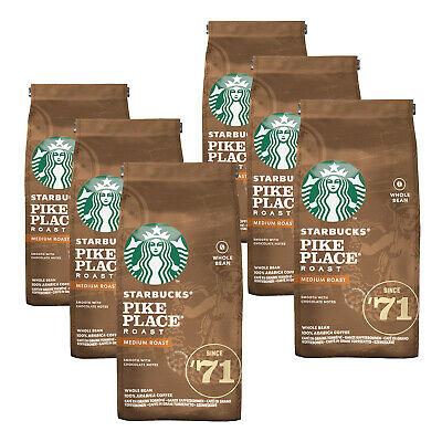 Starbucks Pike Place Roast ganze Bohne Kaffeebohnen Mittlere Röstung 6x 200g für 19,95€