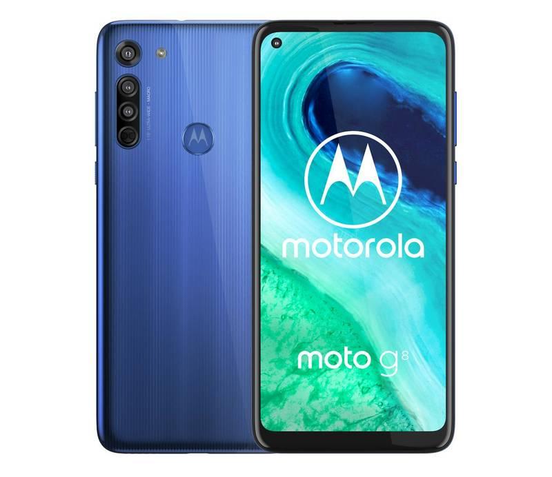 MOTOROLA Moto G8 4/64GB Neon Blue oder Pearl White