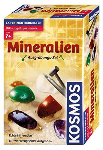 KOSMOS - Mineralien Ausgrabungs-Set, Grabe echte Mineralien selbst aus, mit Hammer und Meißel 6,37€ (Amazon Prime)