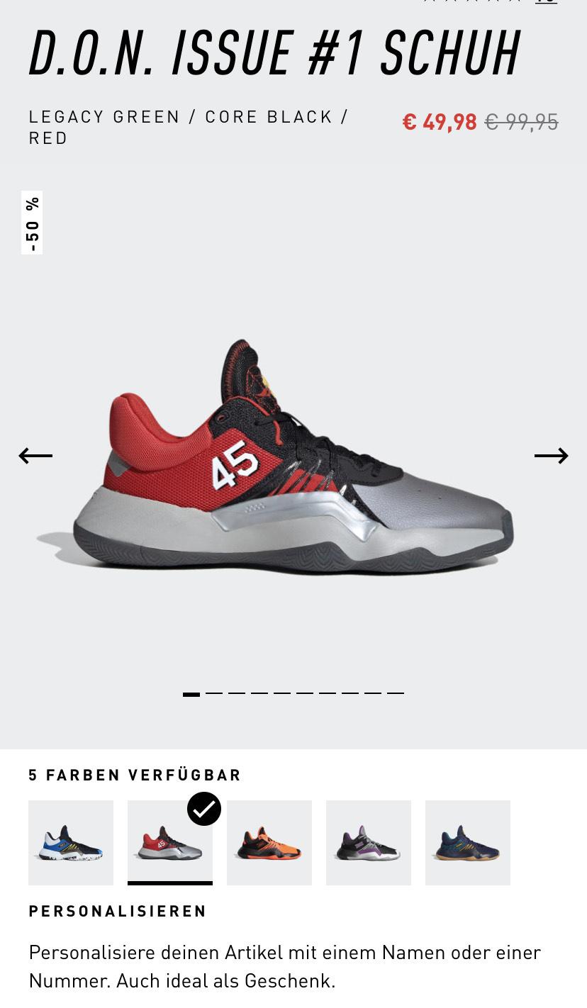 Adidas D.O.N Issue #1 Schuhe