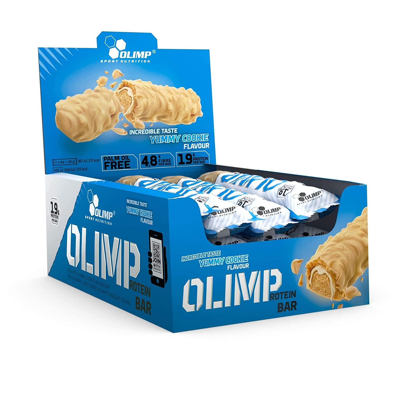 Olimp - Protein Bar 24 x 64g Riegel / Einzelpreis 12 Stück zu 10,59€ + Versandkosten 2,95€