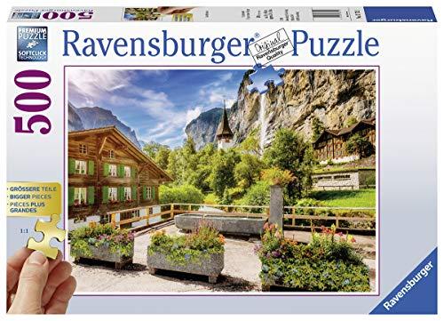 Ravensburger Puzzle - Lauterbrunnen (500 Teile) für 7,28€ (Amazon Prime & Real Abholung)