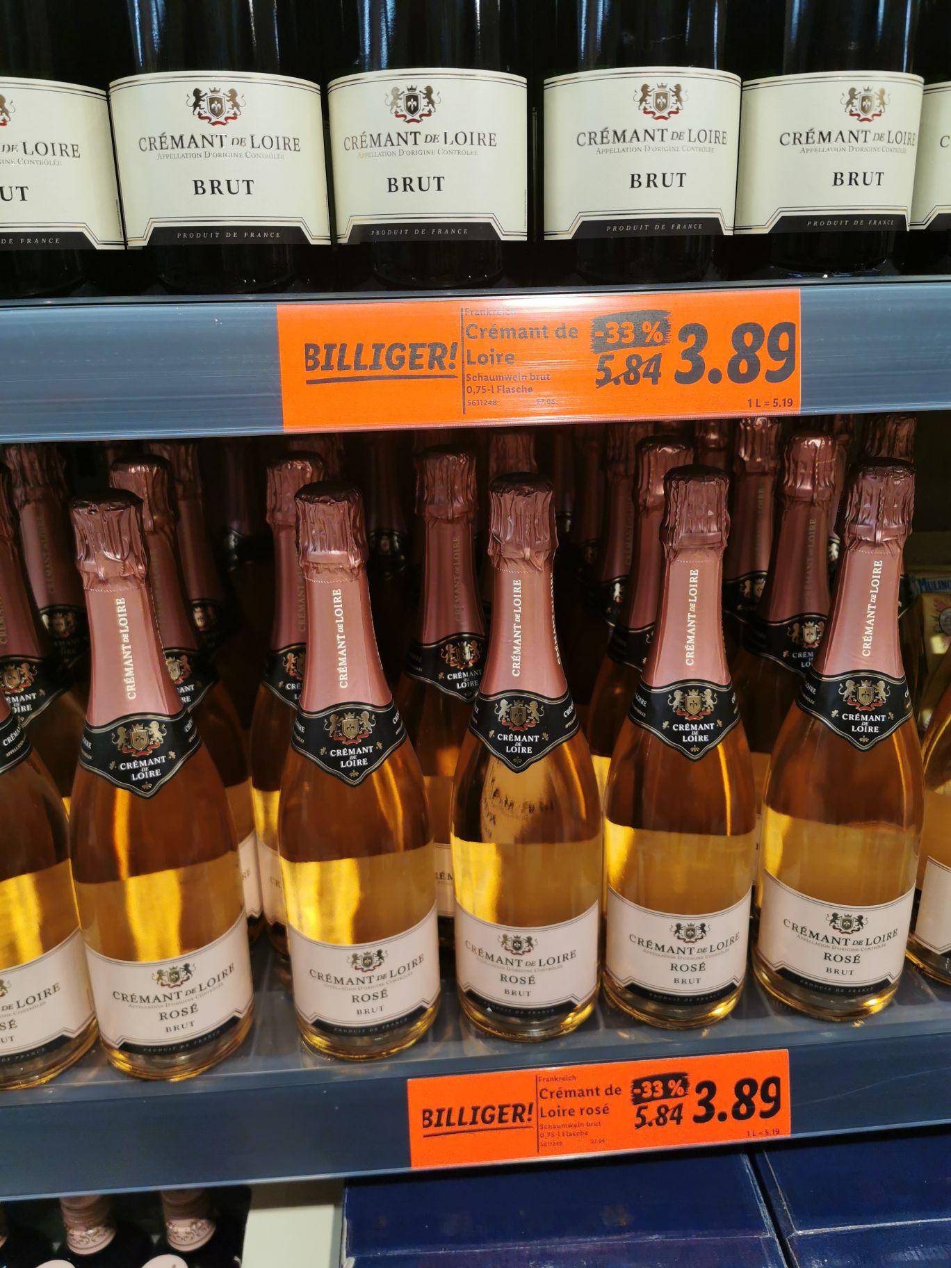 [Lokal] Offline Lidl Düsseldorf Carlsplatz Cremant de Loire brut oder rosé
