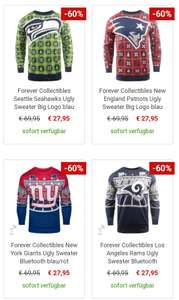 NFL Ugly Sweater (Patriots, Seahawks, Giants, RAMs,)