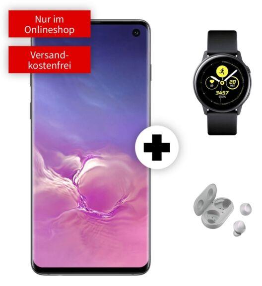 Samsung Galaxy S10 und Watch Active + Buds im O2 Free M (20GB LTE 225Mbit, Allnet/SMS) mtl. 29,99€ einm. 29€ [nach Ankauf 6,94€ mtl.]