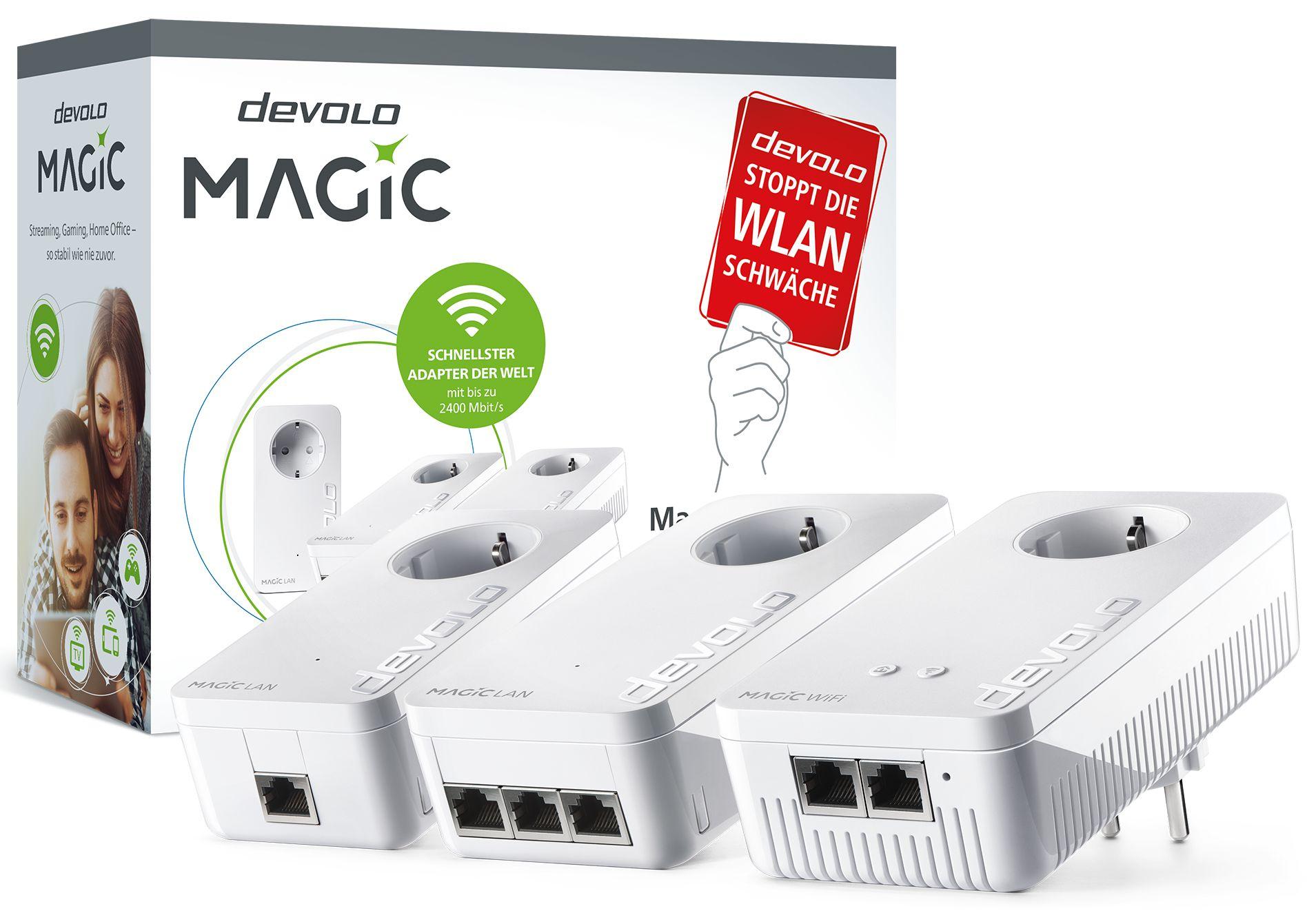 devolo Magic 2 Wifi Streaming Kit (Magic 2 LAN, Magic 2 LAN triple & Magic 2 WiFi next)
