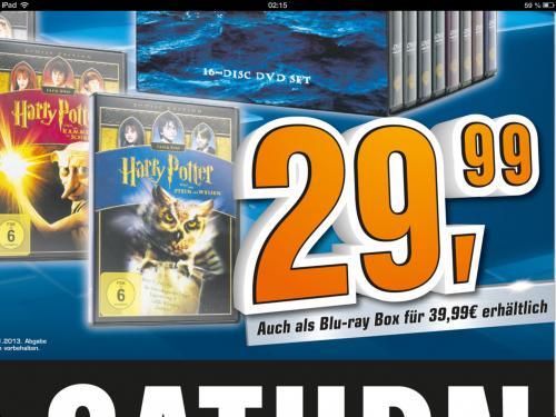 Saturn Harry Potter Komplettbox (Blu-Ray)