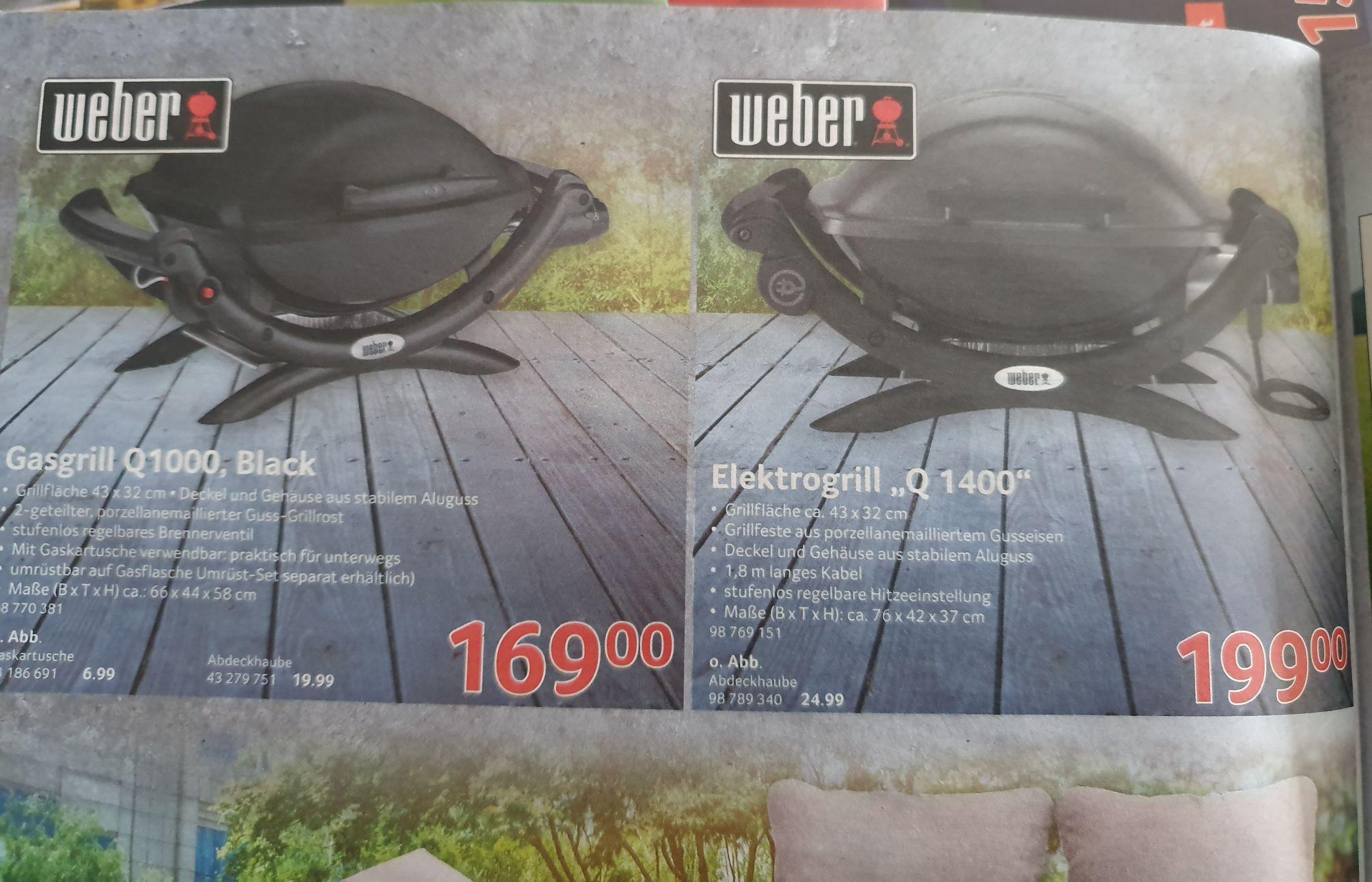 Weber Grill Q1000 und Q1400