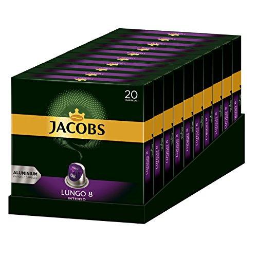 Jacobs Kaffeekapseln für Nespresso z.B. Lungo Intenso 200 Stück