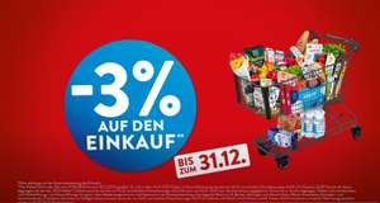 [Aldi Nord und Süd] Vom 27.06. - 31.12. Mehrwertsteuersenkung + 1% = 3% Ersparnis